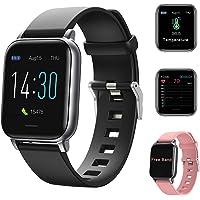 Reloj inteligente Deportivo, Smartwatch para Hombre Mujer, Pulsera Deportiva Bluetooth para Android y iOS Móvil, Con…