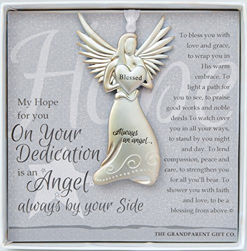 Dedication Gift Guardian Angel Medallion Ornament ()