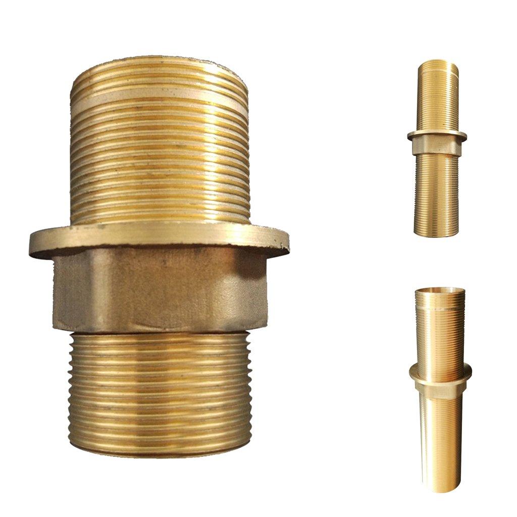 MonkeyJack Faucet Fittings Nipple Locknut Kit Deck Mount Basin Tap Single Hole 4 Sizes 6cm
