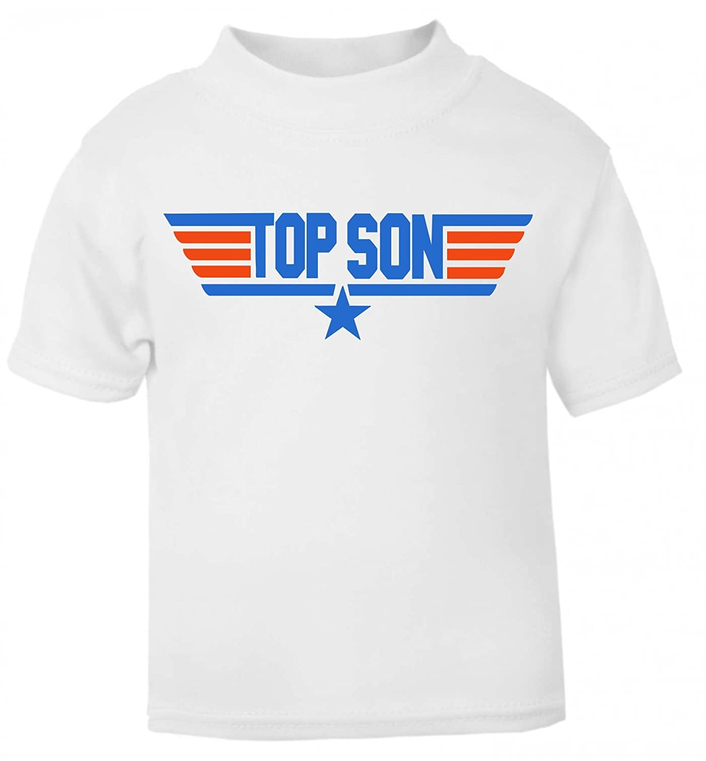 'TOP DAD & TOP SON'' Matching Fathers Day T-shirt Gift Set in White