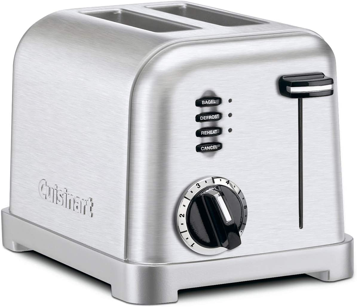 Cuisinart CPT-160P1 Metal Classic 2-Slice toaster, Brushed Stainless