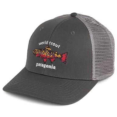 cce0b5bb868 Patagonia Hats World Trout Brook Fishstitch Trucker Cap - Grey Adjustable