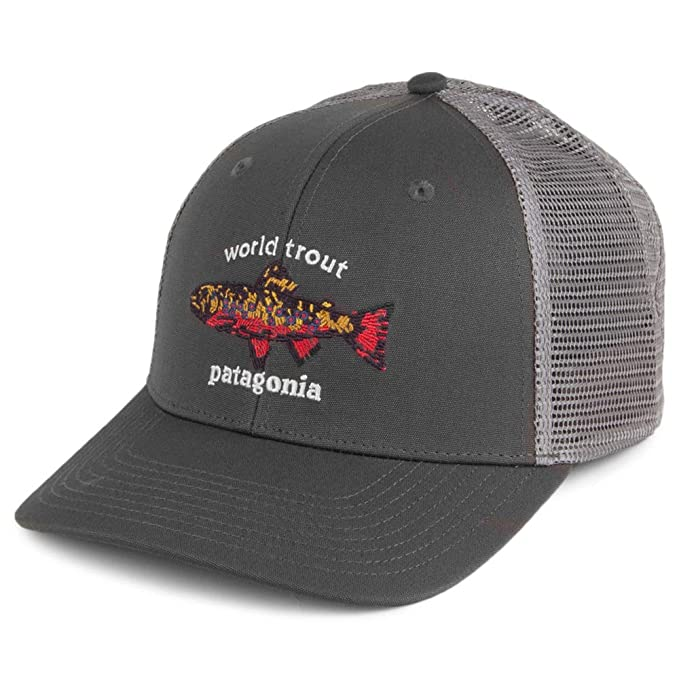 Patagonia Gorra Trucker World Trout Brook Gris - Ajustable: Amazon.es: Ropa y accesorios