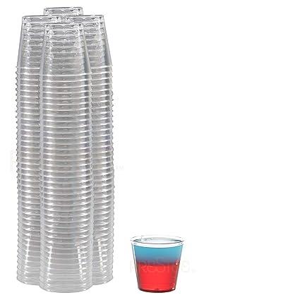 656d41752f48 Amazon.com  Small Clear Plastic Cups – Shot Glasses