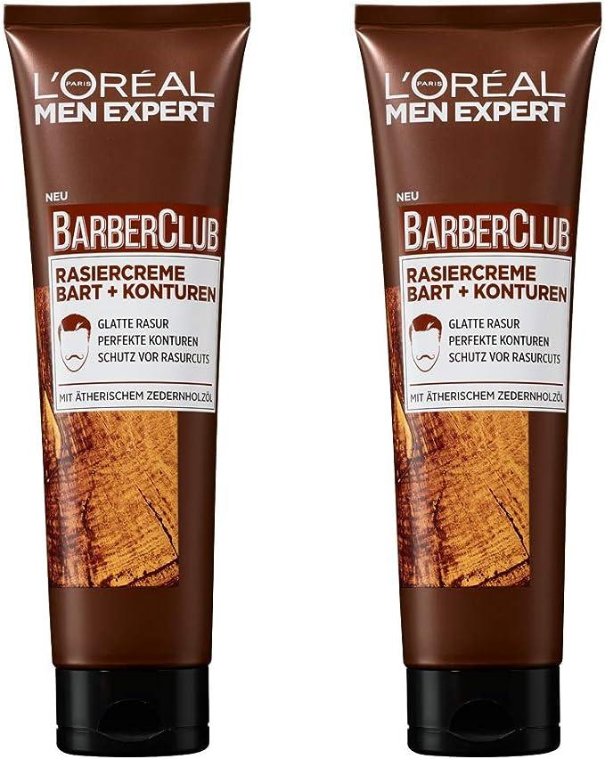 L Oréal Men expert Barber Club Crema de Afeitar Barba + contornos ...