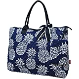 Southern Pineapple Print NGIL Quilted Overnight Tote Bag