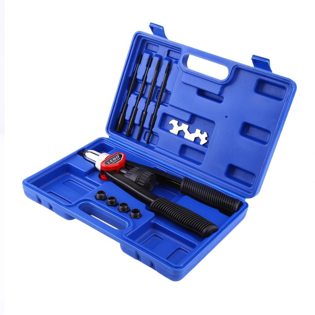 10 mm 6 mm 8 mm 12 mm Nietmuttern Nietzange Nietmutternzange-Set Nietmaschine mit 5 mm 33cm Gewinde Griff