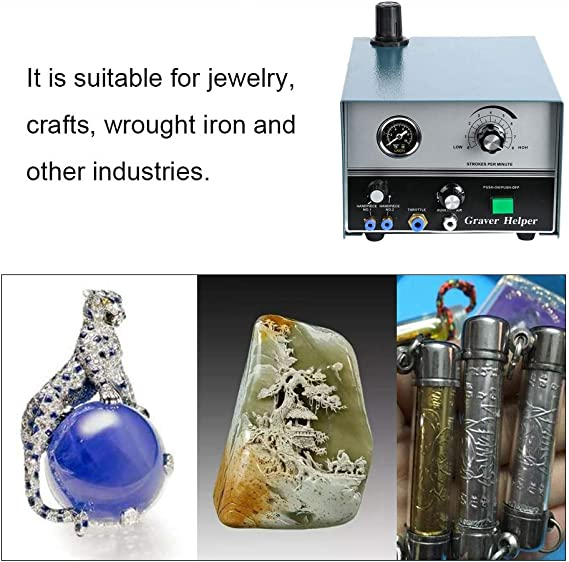 Machine de Travail des m/étaux /à Double Impact de graveur de Bijoux pour m/étaux artisanaux en Fer forg/é # 2 Zetiling Machine de Gravure pneumatique