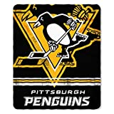 NHL Pittsburg Penguin Fleece Fade Away Throw Blanket
