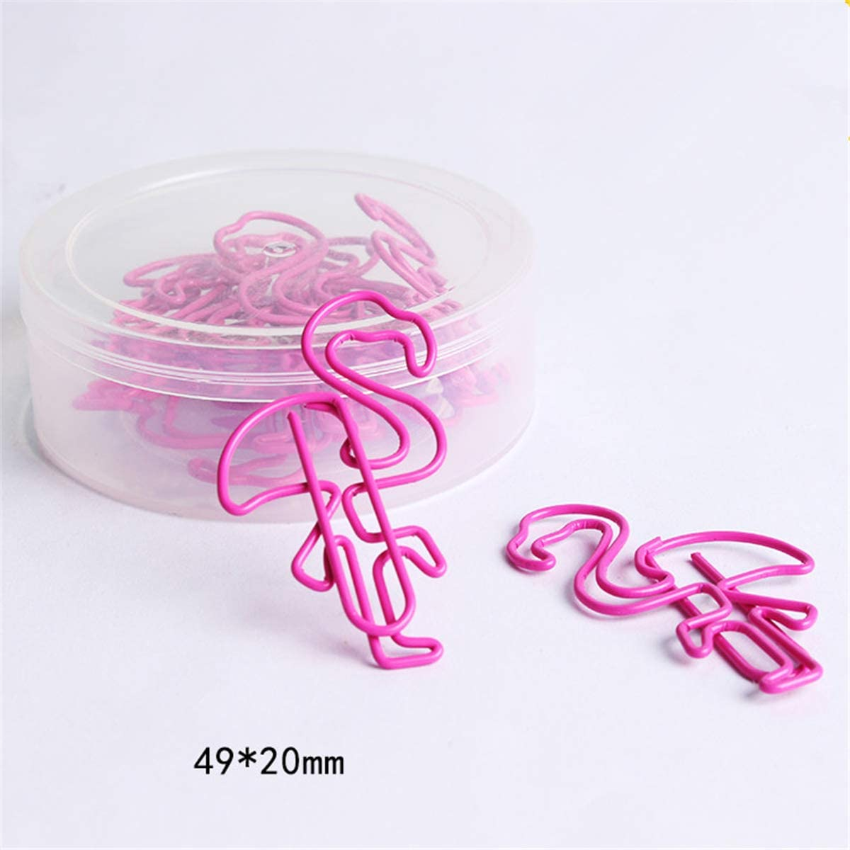 Cute Paper Clips Cartoon Pink Flamingo Shaped PaperClips for Office Supplies Wedding Women Girls Kids Students (20)