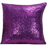 LivebyCare Multi-Size Glitter Sequin Cushion Cover Satin Sparkling Throw Pillow Case Sham Pattern Zipper Pillowslip…