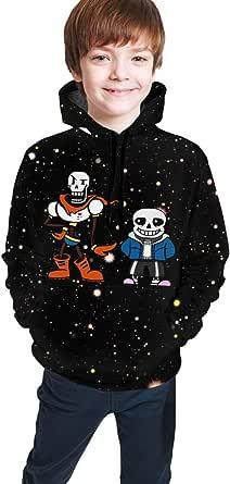 maichengxuan Children's Hoodies Sans Un-Der-Tale 3D Print Pullover Hooded Sweatshirt for Girls/Boys/Kid's/Youth