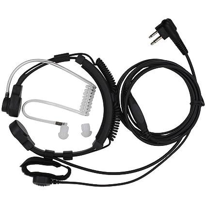 2-Pin Flessibile Professionale Laringofono Bodyguard Tubo Acustico Cuffia  Auricolare Con Dito PTT Per Motorola 28dc23a2bfb9