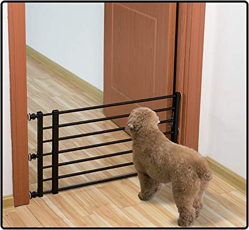 QIANDA Barrera Seguridad Niños Protector Escaleras Bebe Sin Agujeros En La Pared Adecuado for Criaturas Y Mascotas Extensible Todos Los Anchos (56cm-160cm), 2 Colores: Amazon.es: Hogar