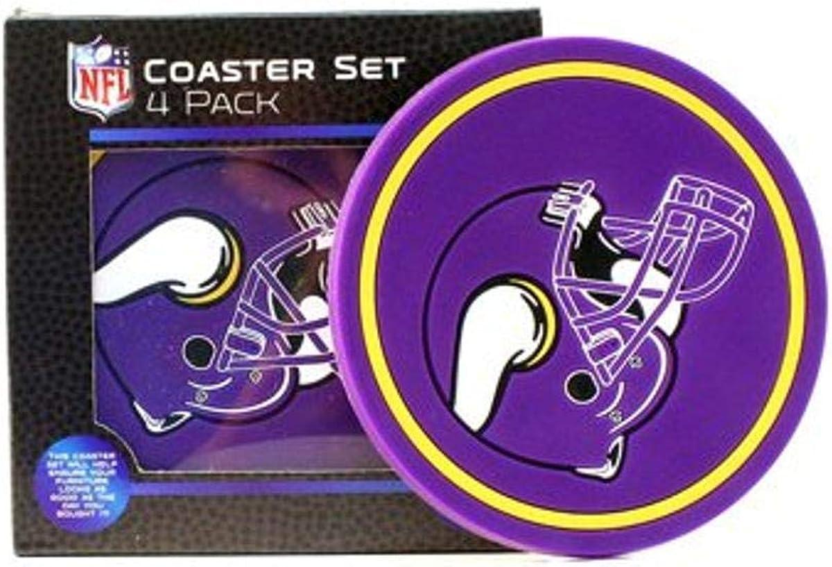 The Northwest Company NFL Mens Helmet Logo Coasters, 4-Pack