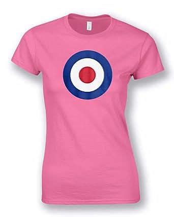 Womens Ladies Mod Target Retro Scooter Vespa T-Shirt tee  New  S-XXL   Amazon.co.uk  Clothing 02f3394e8