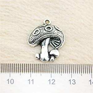 NEWME 30Pcs Mushroom Charms Pendant for DIY Jewelry Wholesale Crafting Bracelet and Necklace Making