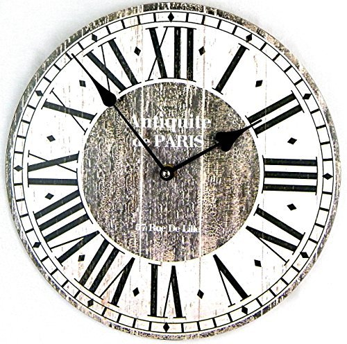 Price comparison product image Tinas Collection Wanduhr Antiquite De Paris Shabby 30Cm Nostalgie K¨¹chenuhr Quarzuhr Uhr