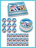 "Lazy Town Edible Cake Topper & Cupcake Toppers - 7.5"" round"