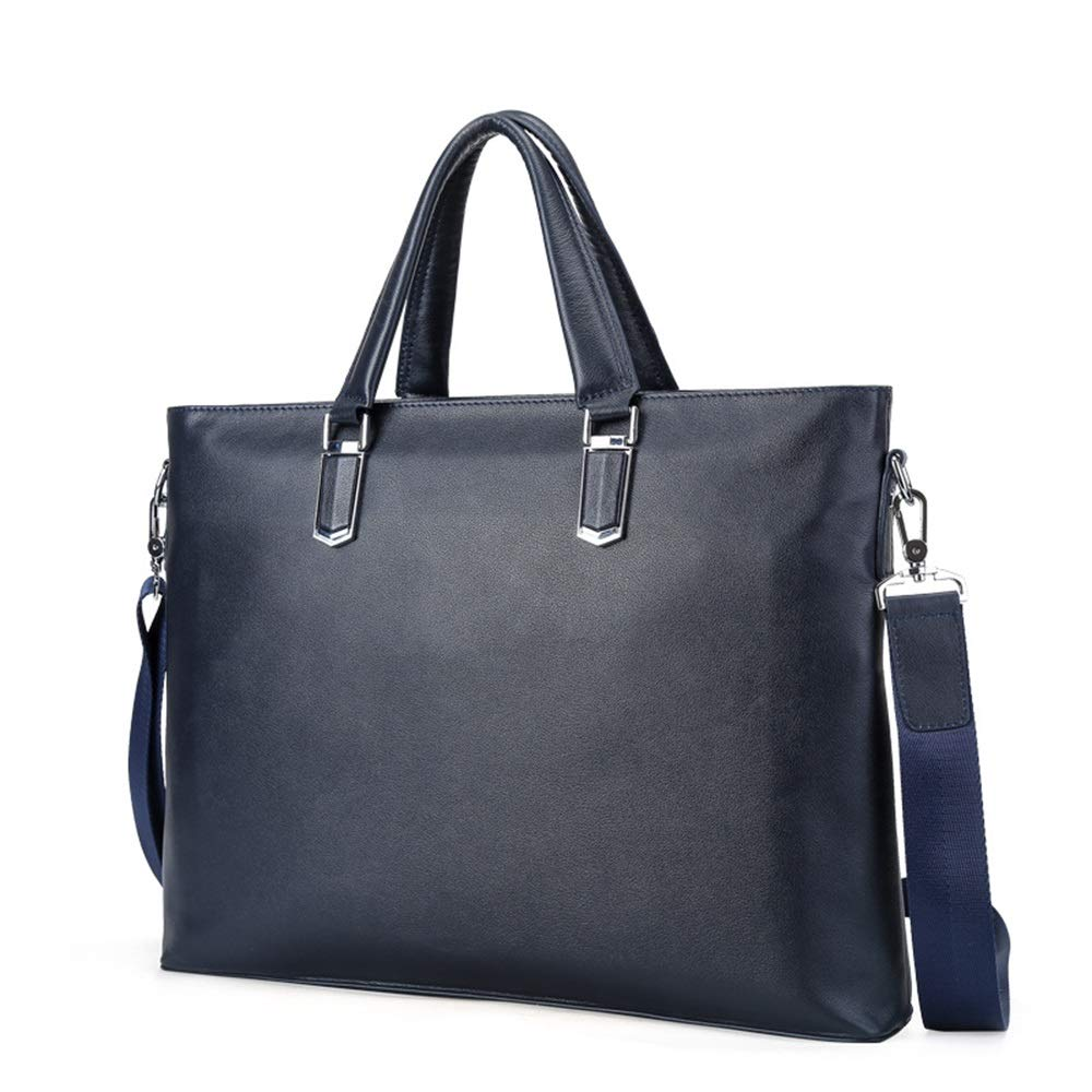 Color : Black ZHPRZD Business Briefcase Large Capacity Tote Briefcase Commuter Mens Handbag Computer Messenger Bag Tote Blue//Black 40.5 X 31 X 13.5 cm