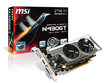 MSI N430GT-MD1GD3/OC GeForce GT430 - Tarjeta gráfica NVIDIA ...