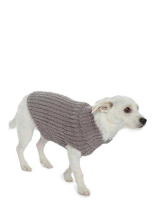 Amazoncom Barefoot Dreams The Cozychic Ribbed Dog Sweater Warm