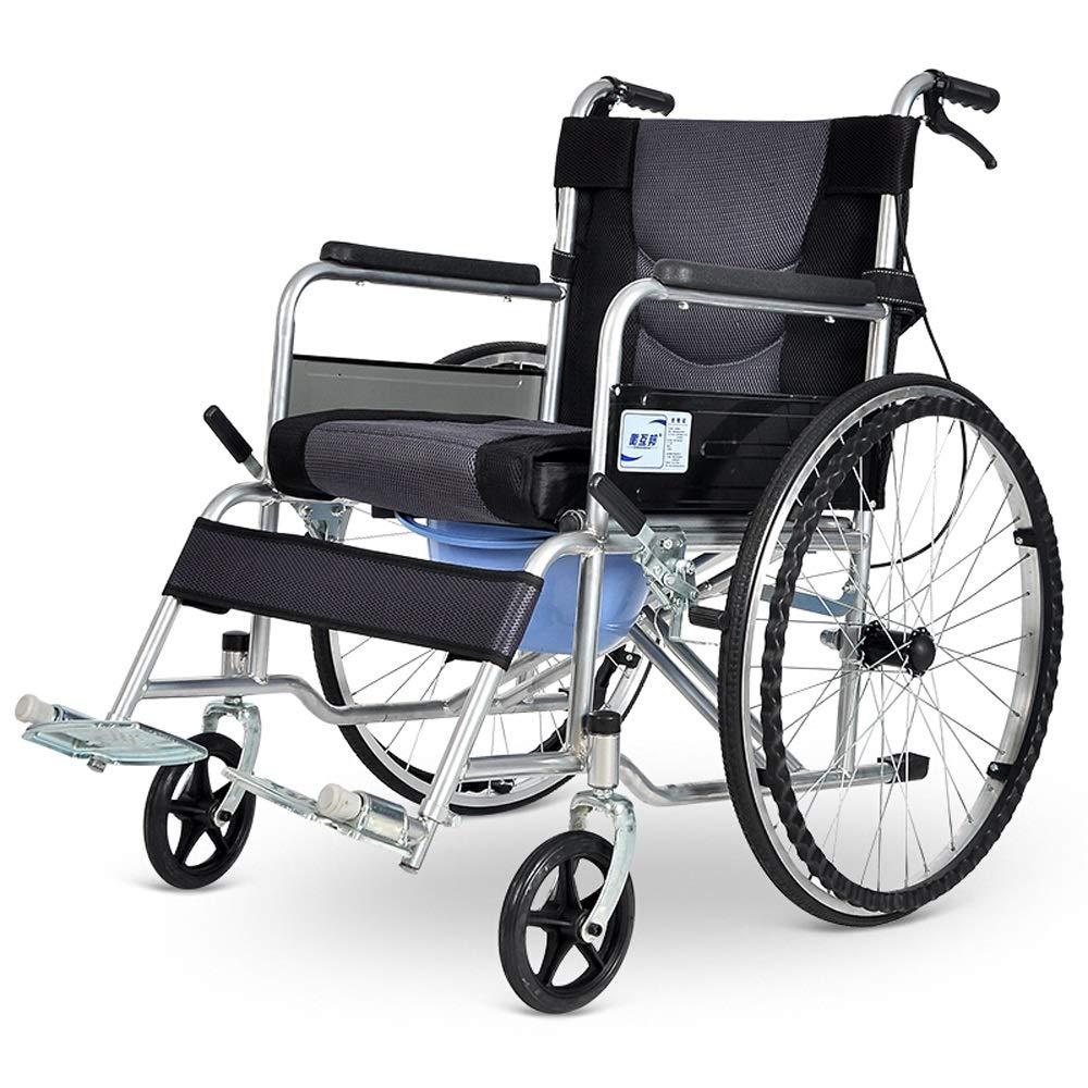 最も優遇の YONGMEI トイレ付き折りたたみ式車椅子、高齢者向けポータブル旅行、軽量車椅子 (色 (色 Gray) : : Gray) Gray B07LDZ8551, オオノムラ:ea53019d --- a0267596.xsph.ru