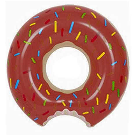Donuts 120 cm adultos Super grande de grosor hinchable vida boya flotador 80 de Galletitas café