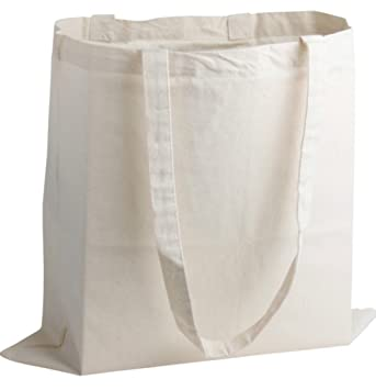 f4d9c4e7d 10 x Cotton Shopping Bags. Natural Colour Tote Shoppers. Ideal for Printing  or Fabric