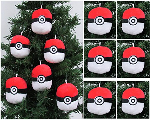Pokemon Catcher 6 Piece Poké Ball Plush Christmas Tree Ornament Set Featuring 6 Red Poké Balls Averages 3 Round Buy Online In Aruba At Aruba Desertcart Com Productid 32078527
