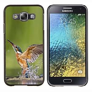 TECHCASE---Cubierta de la caja de protección para la piel dura ** Samsung Galaxy E5 E500 ** --Enfriar Kingfisher En Agua