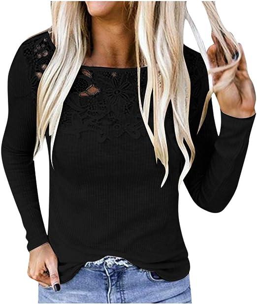 FAMILIZO Camisetas Mujer Verano Blusa Mujer Elegante Camisetas Mujer Fiesta Algodón Tops Mujer Fiesta Camisetas Sin Espalda Mujer Tops Mujer Fiesta Blusa Negra Mujer Manga Larga: Amazon.es: Ropa y accesorios