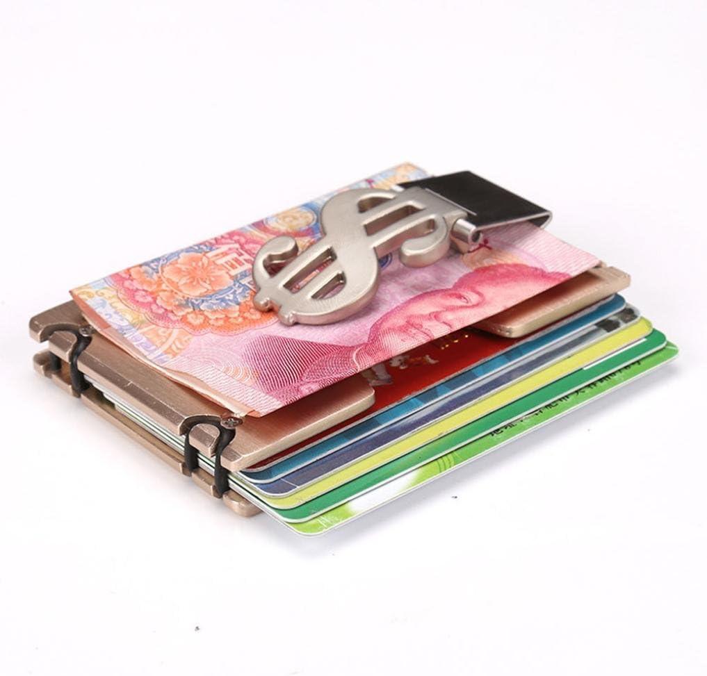 Acier inoxydable Money Clip en Métal Argenté Poche Support Portefeuille Carte De Crédit unique