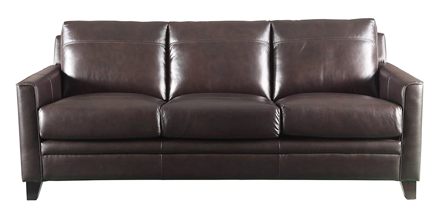 Amazon.com: Leather Italia USA Fletcher Living Room Set with ...