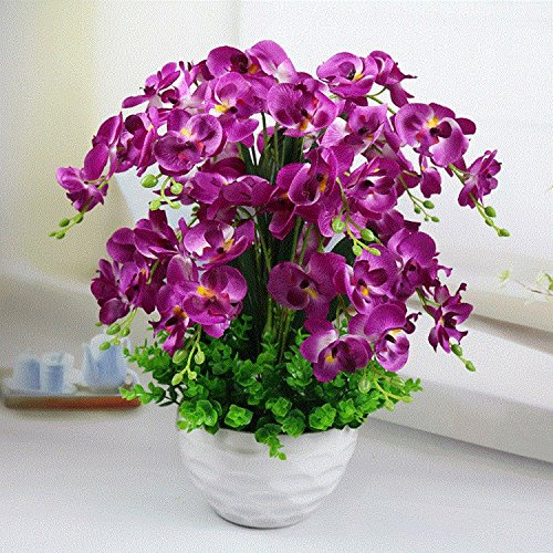 GBHNJ Artificial Decoración Falso Juegos Inmortal Mariposas Orquídea Púrpura