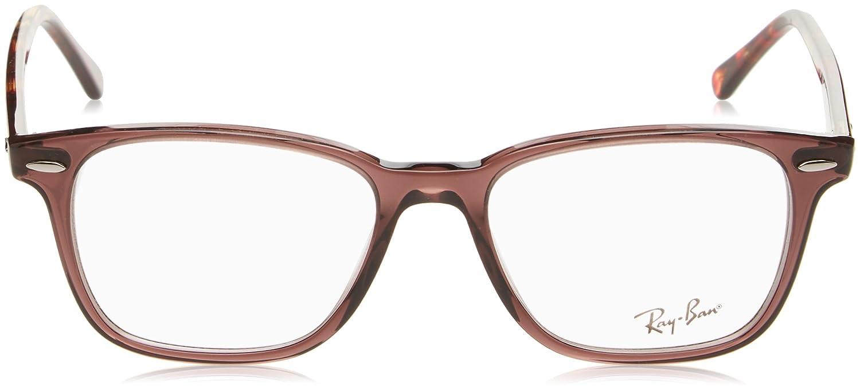 7a2099318f Amazon.com  Ray-Ban 0rx7119 No Polarization Rectangular Prescription  Eyewear Frame Black 53 mm  Clothing