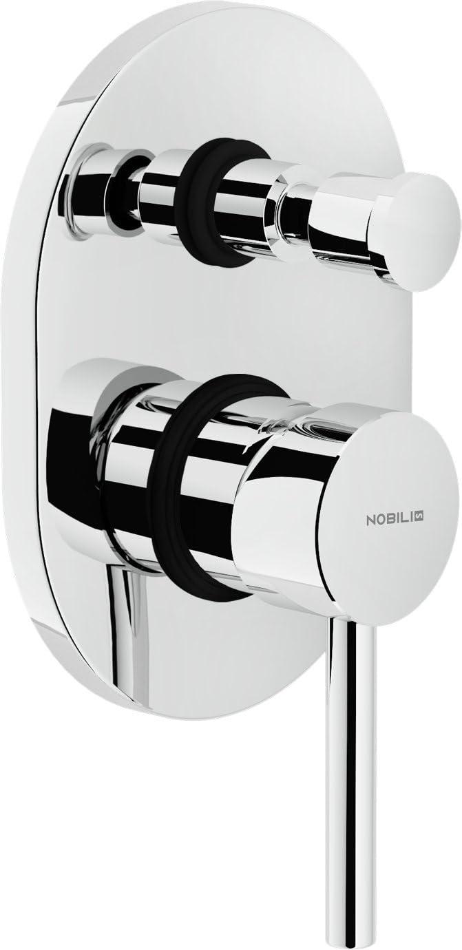 Nobili Rubinetterie Ab87100cr Abc Miscelatore Monocomando Per Doccia Ad Incasso Con Deviazione Cromo
