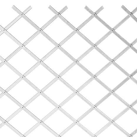 Grigliati In Plastica Per Giardino.Sti Traliccio In Plastica Bianco Grigliato Estensibile 100x100 Cm