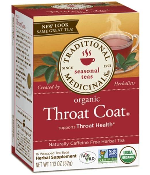Traditional Medicinals Herb Tea Og1 Throat Coat 16 Bag
