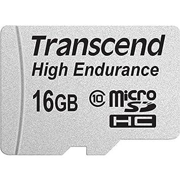 Transcend 16GB microSDHC Memoria Flash Clase 10 MLC - Tarjeta de Memoria (16 GB, MicroSDHC, Clase 10, MLC, 21 MB/s, Negro, Plata)