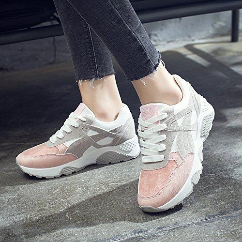 NGRDX&G Zapatos Deportivos De Plataforma Zapatos Casuales De Mujer Zapatos Deportivos De Mujer Transpirable Zapatos De Malla De Mujer pink