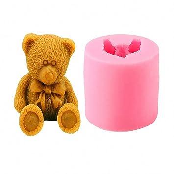 3d con diseño de oso – moldfun, oso molde de silicona para decoración de pasteles