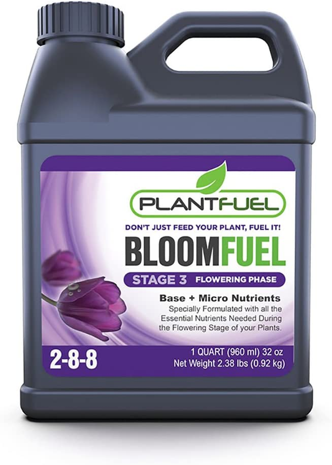 PLANTFUEL Bloom Fuel Liquid Fertilizer, Liquid Plant Fertilizer and Bloom Booster, Indoor, Outdoor, and Hydroponic Grow Nutrients, Plant Nutrients for Blooming, Flowering Plant Fertilizer