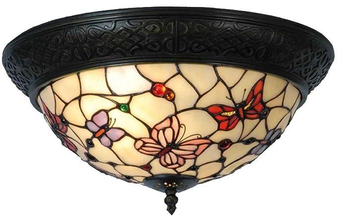 Lampadari E Plafoniere Tiffany : Deckenleuchte tiffany Ø cm e amazon illuminazione