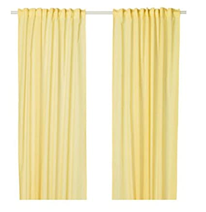Ikea New Exclusive tende tende, 1 paio, giallo: Amazon.it: Casa e cucina