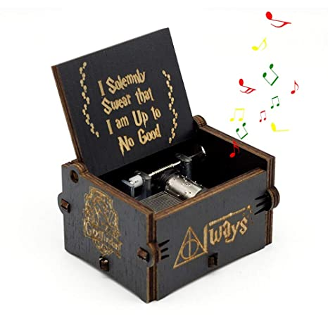 Amazon.com: Leegoal Hedwigs Theme Hary Poter Music Box, Antique Carved Wooden Hand Crank Musical Boxes for Christmas Happy Birthday New Year Gift Toy Home ...