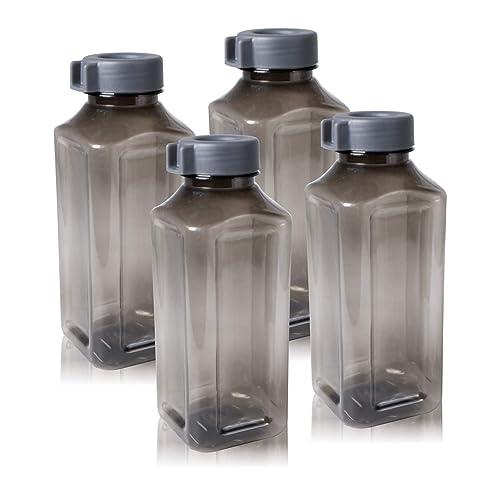 Wonder Atlanta 400 Fridge Bottle Set, Grey Color, Set of 4 Bottles, Made in India