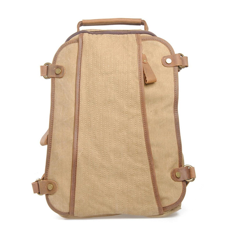 Canvas Backpack, Boshiho Outdoor Vintage Canvas Rucksack Shoulder Travel Hiking Camping Bag School Bag