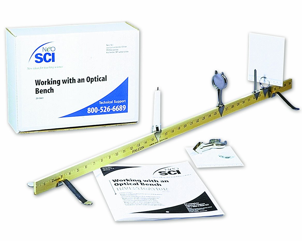 Neo Sci Lab Investigation Working with an Optical Bench Kit School Specialty 20-1663