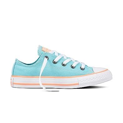 2cc908ad8437 Converse Seasonal Ox Canvas Trainers Girls Shoes Footwear Aqua (UK3) (EU35)  (